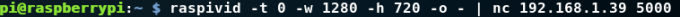 raspivid pi zero 8